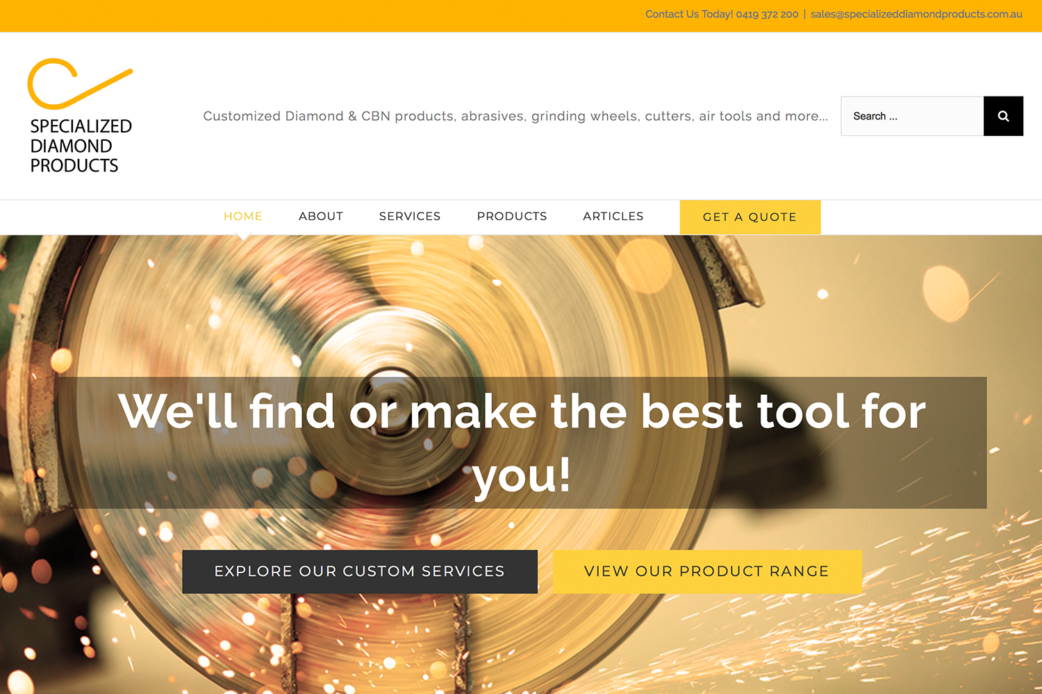 New Website Launched: Specialized Diamond Products