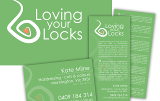 Loving Your Locks Logo Design, business card and flyer