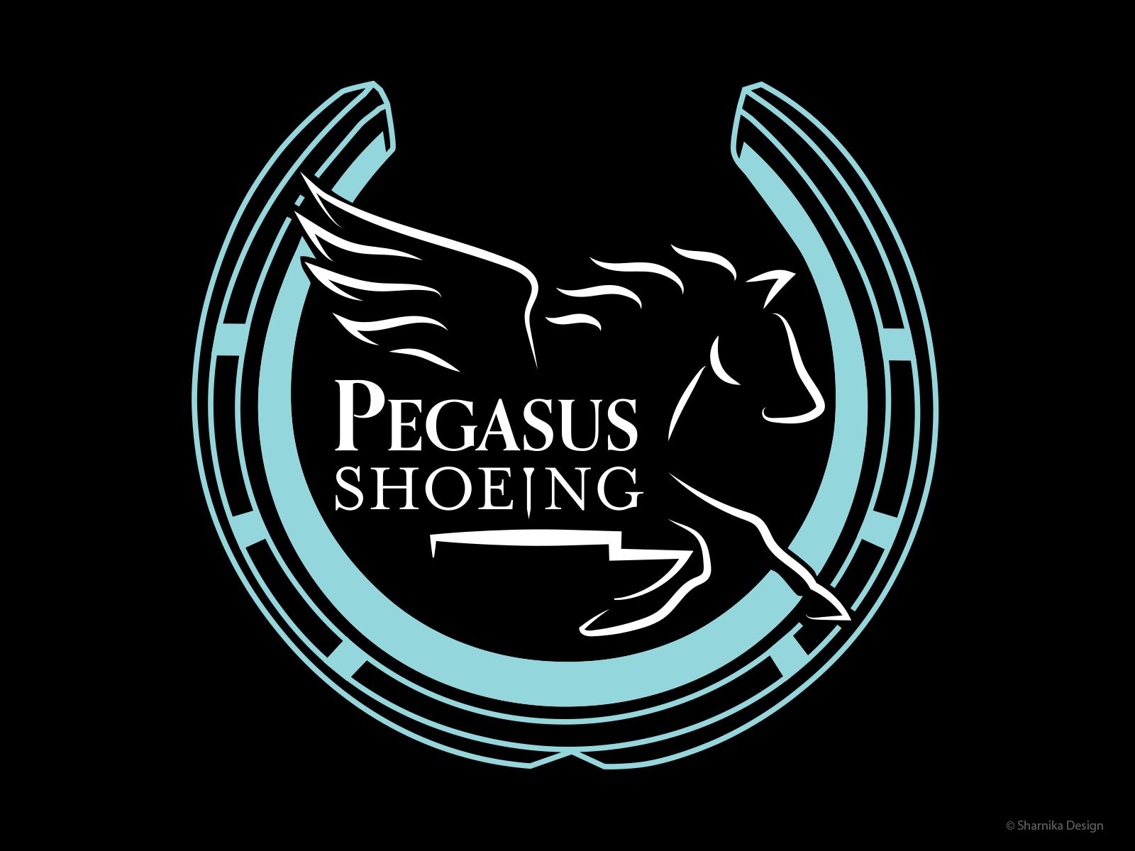 Logo Design for Pegasus Shoeing